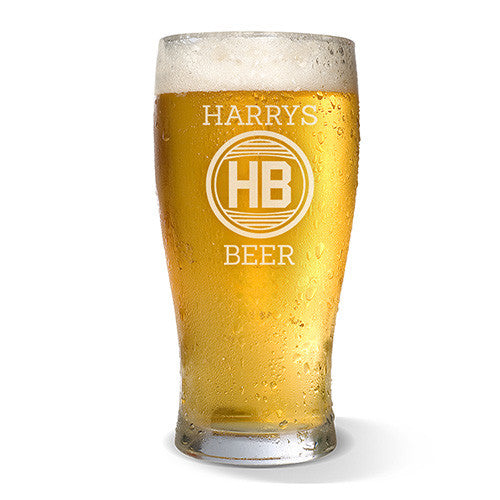 Monogram Design Standard 285ml Beer Glass