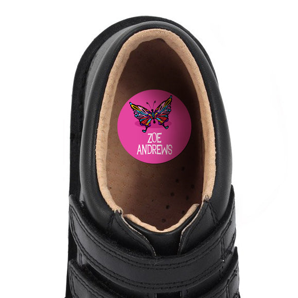 Shoe Dots Butterfly 18pk