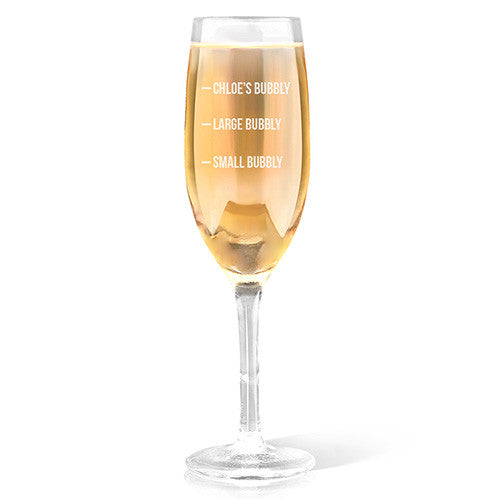 Bubbly Design Champagne Glass