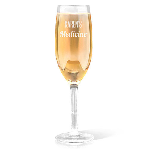 Medicine Design Champagne Glass