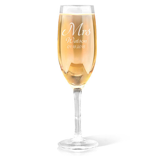 Mrs Design Champagne Glass