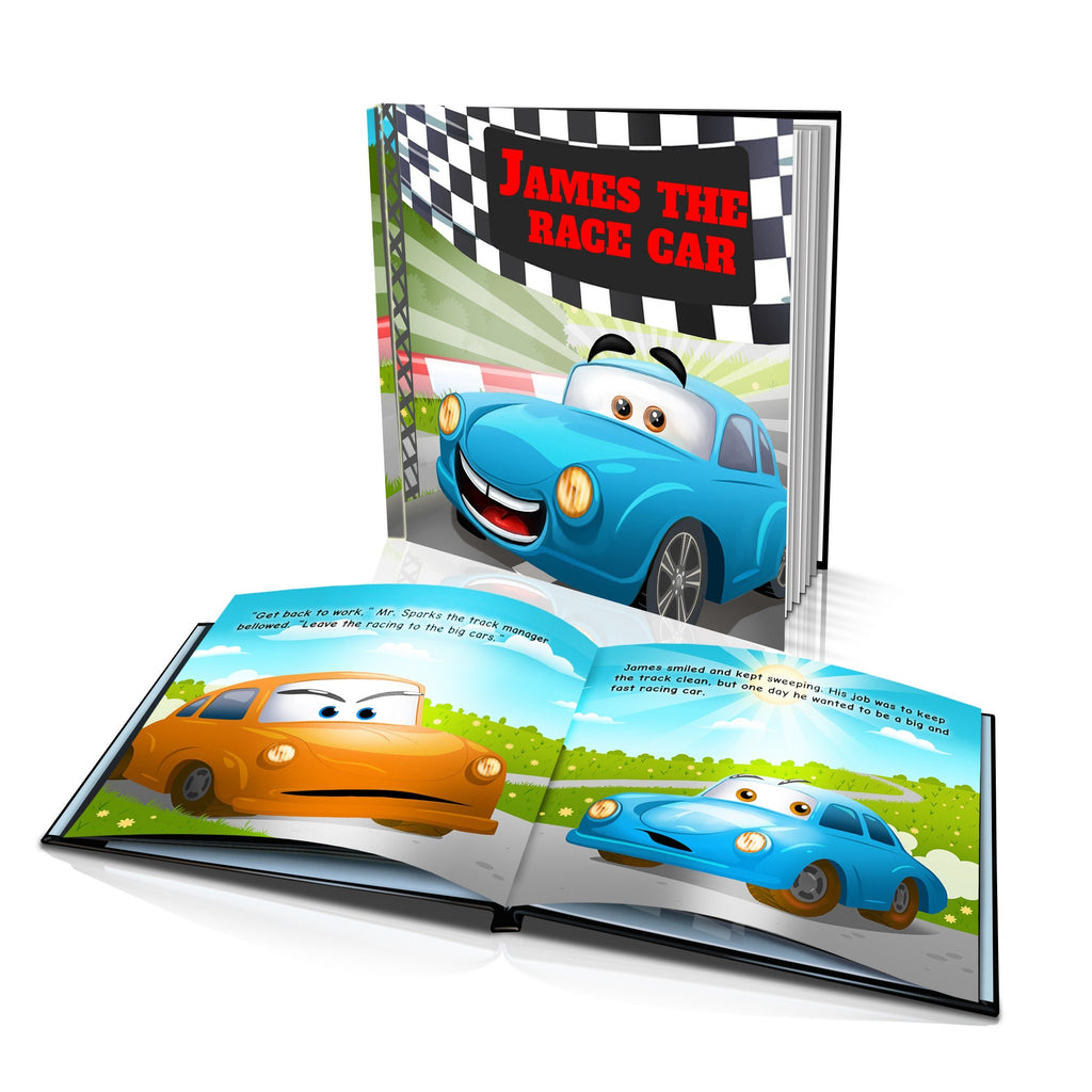 Large Hard Cover Story Book - The Race Car