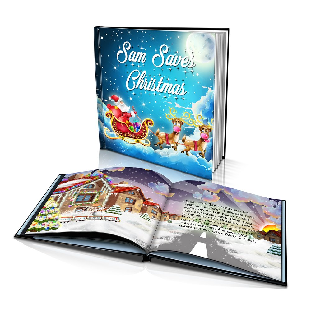 Large Hard Cover Story Book - Saving Christmas