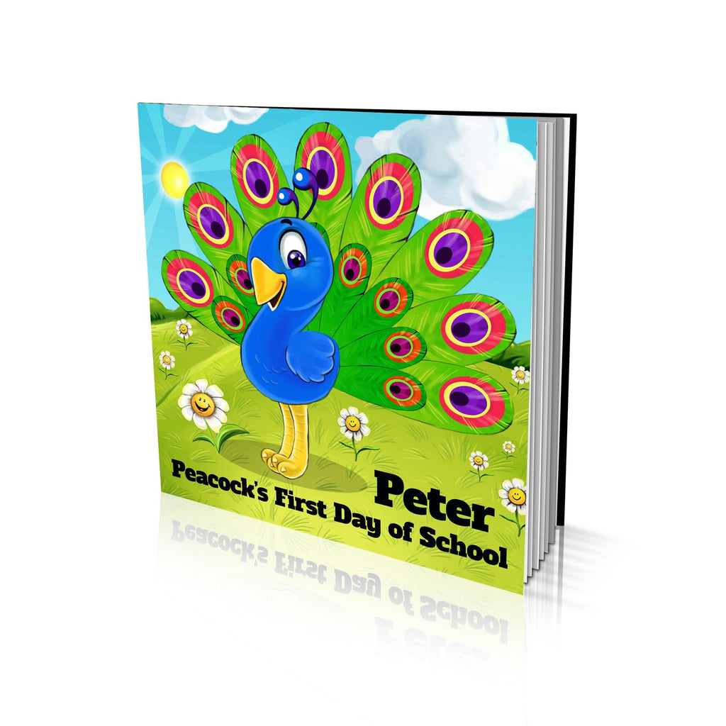 Large Soft Cover Story Book - Peacock's First Day of School