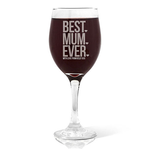 Best Mum Ever Wine 410ml Glass