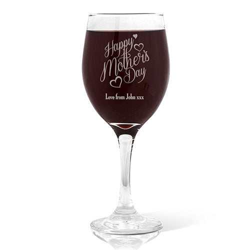 Happy Mother's Day Wine 410ml Glass