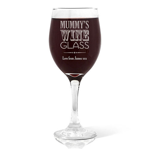 Mummy's Wine Glass Wine Glass