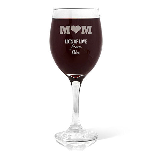 Mum Wine Glass Wine 410ml Glass