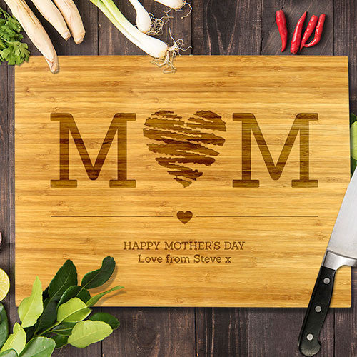 "Mum Heart Bamboo Cutting Board 12x16"" (Temporary Out of Stock)"