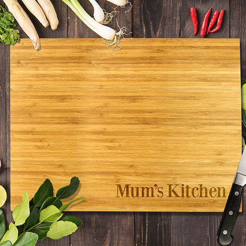 "Simple Mum's Kitchen Bamboo Cutting Board 8x11"" (Temporary Out of Stock)"