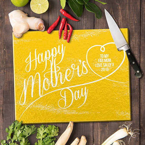 Happy Mother's Day Glass Cutting Board