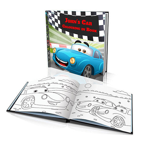 The Race Car Hard Cover Colouring Book