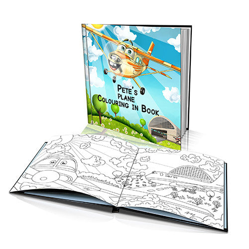 The Little Plane Hard Cover Colouring Book