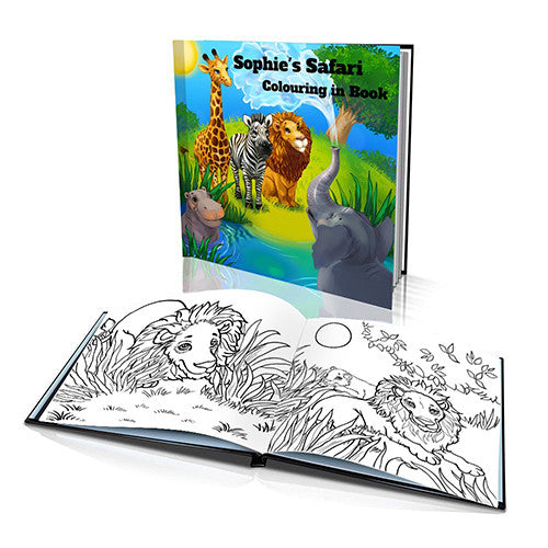 The Safari Hard Cover Colouring Book