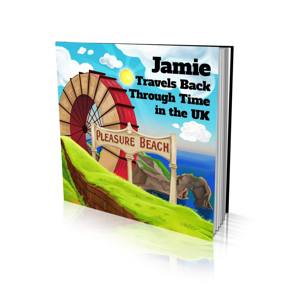 Large Soft Cover Story Book - Travels Back Through Time in UK
