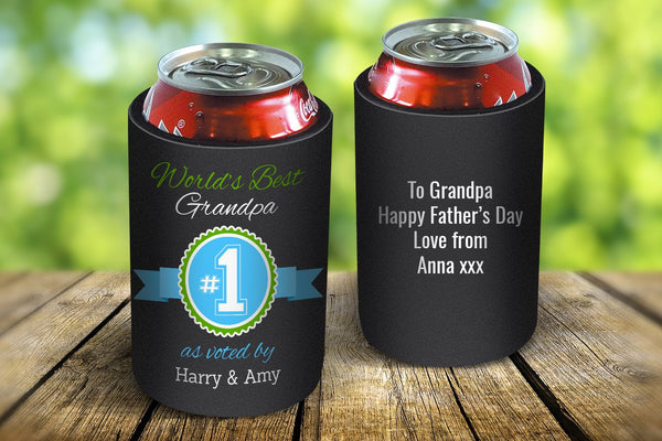 World's Best Grandpa Stubby Cooler