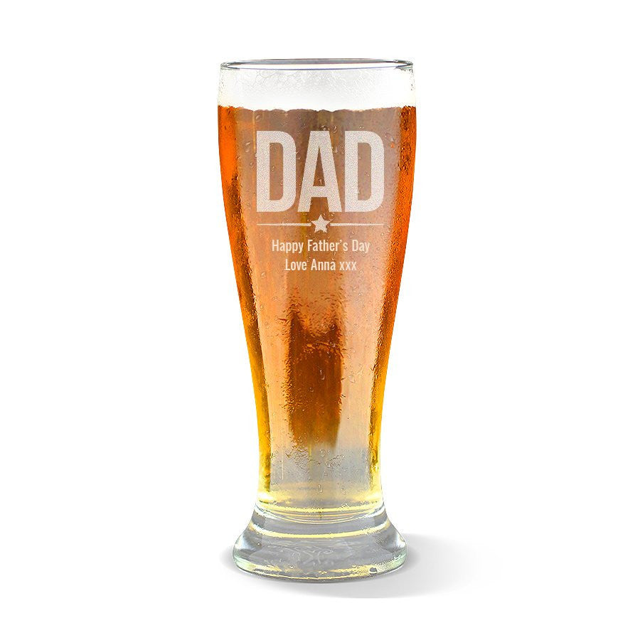 Dad Premium 285ml Beer Glass