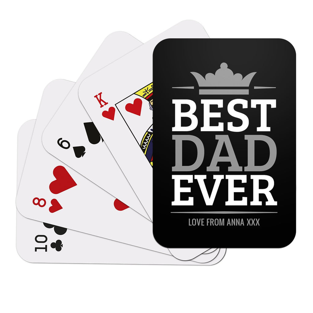 Best Dad Ever Playing Cards