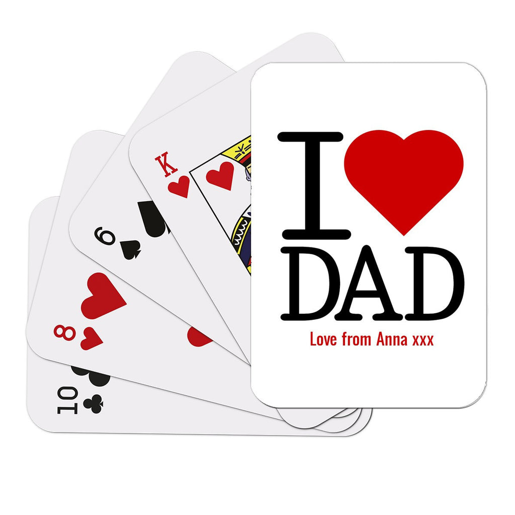 I Love Dad Playing Cards