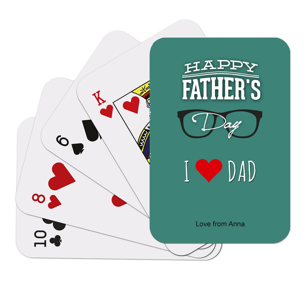 Dad Glass Playing Cards