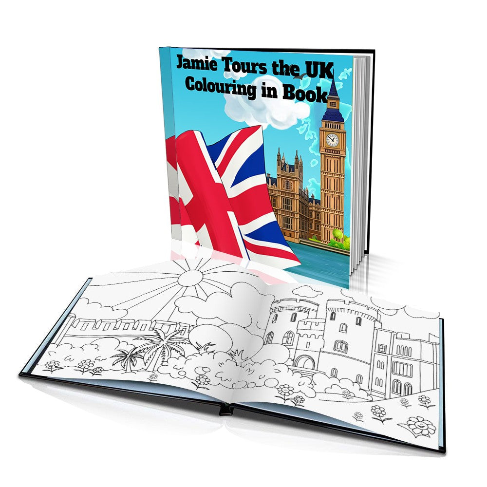 Tours the UK Hard Cover Colouring Book