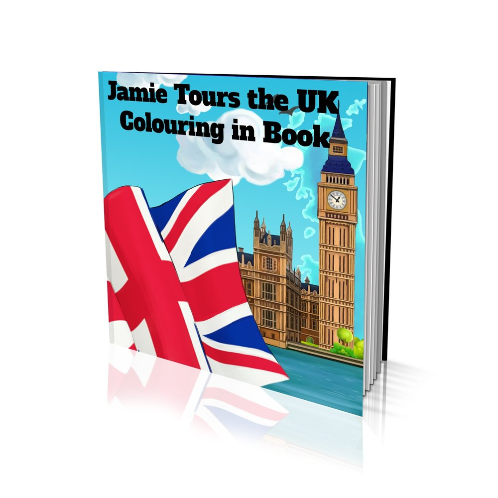 Tours the UK Soft Cover Colouring Book