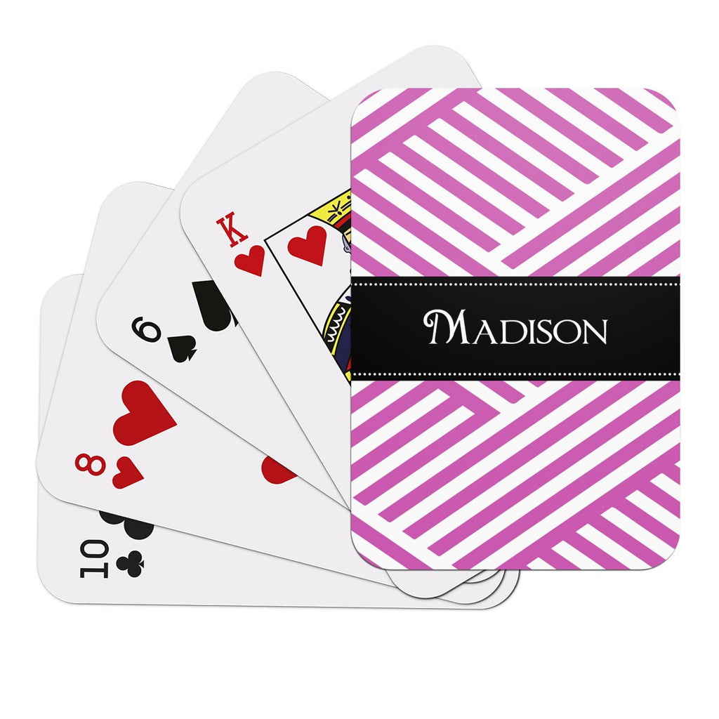Pink Pattern Playing Cards