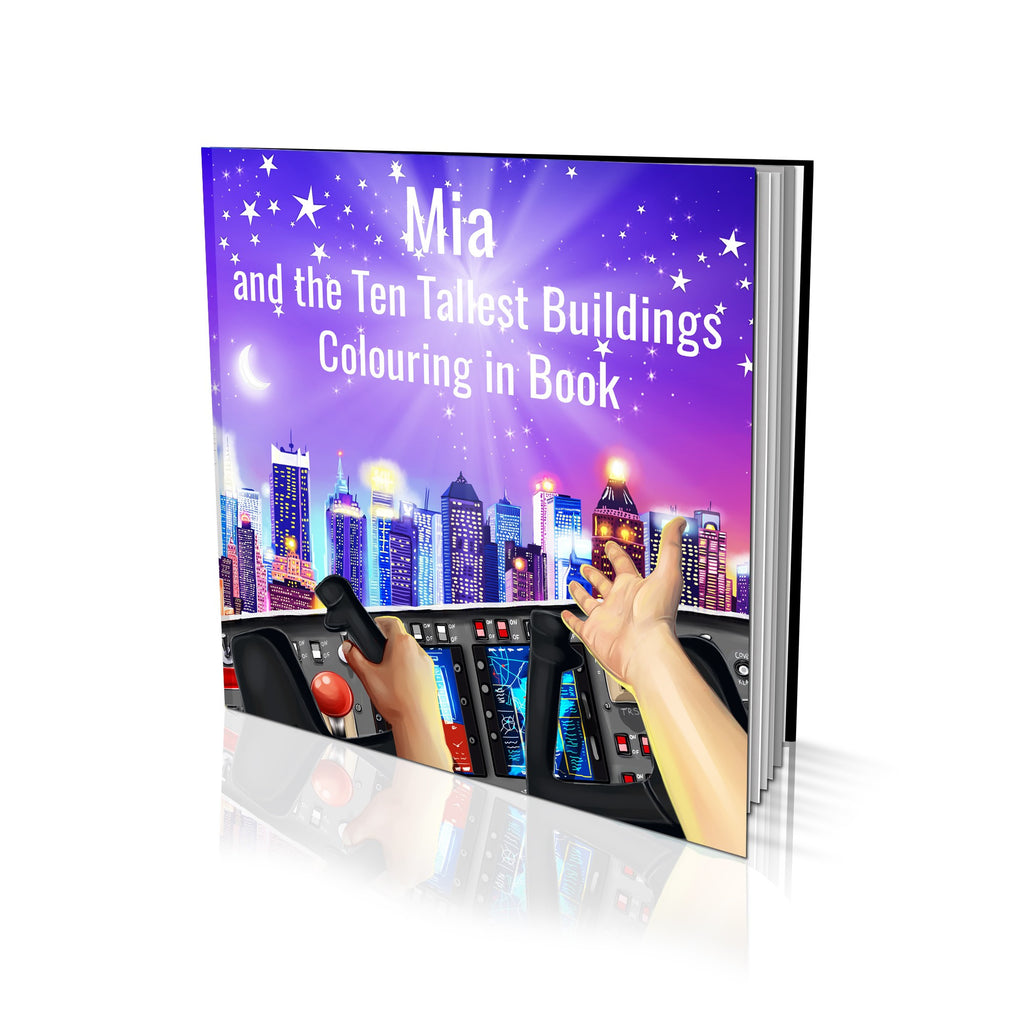 Ten Tallest Buildings Soft Cover Colouring Book