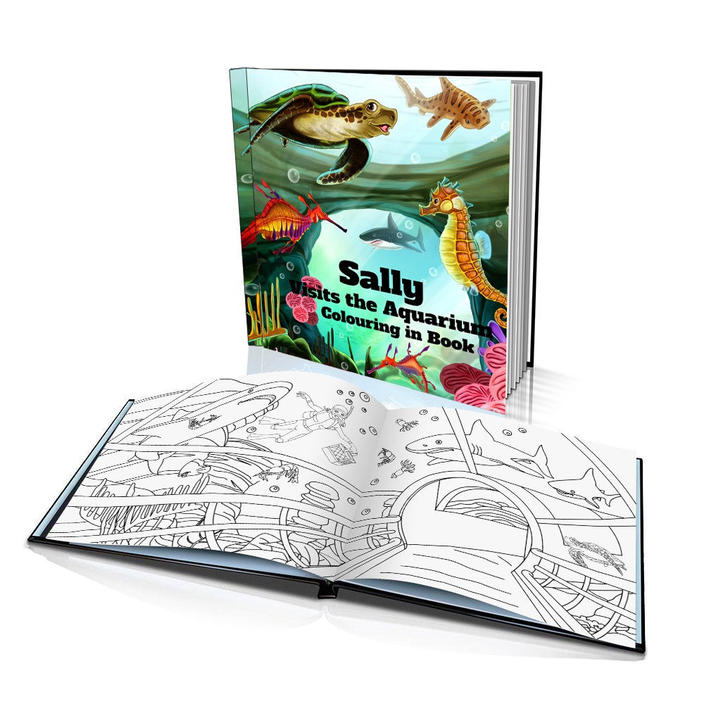 Visits the Aquarium Hard Cover Colouring Book