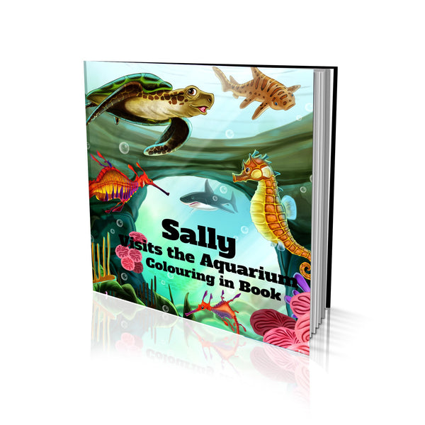 Visits the Aquarium Soft Cover Colouring Book