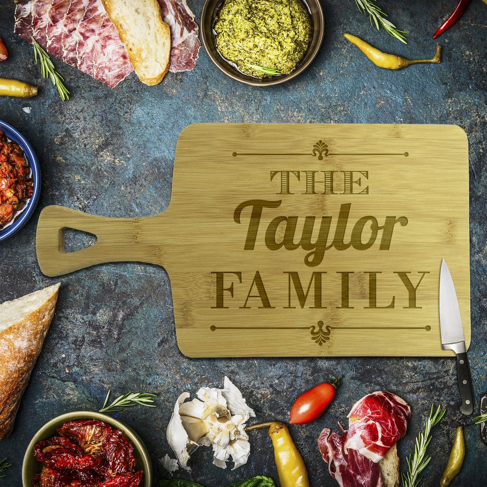 Taylor Family Rectangle Bamboo Serving Board