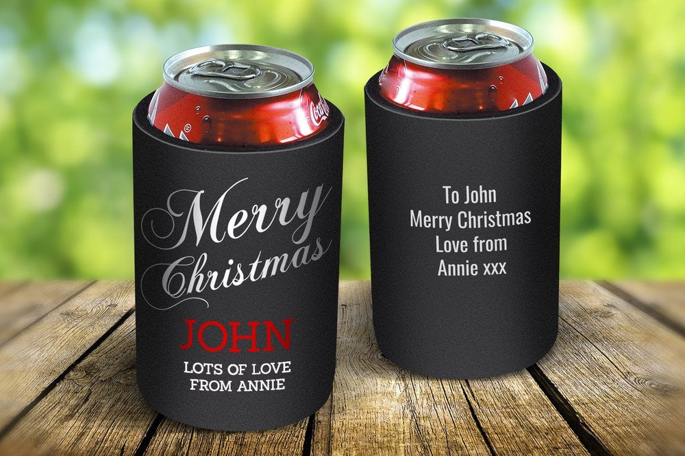 Merry Christmas Stubby Cooler