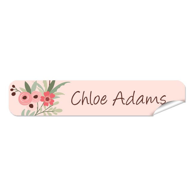Mini Name Labels 72pk - Flower Wreath
