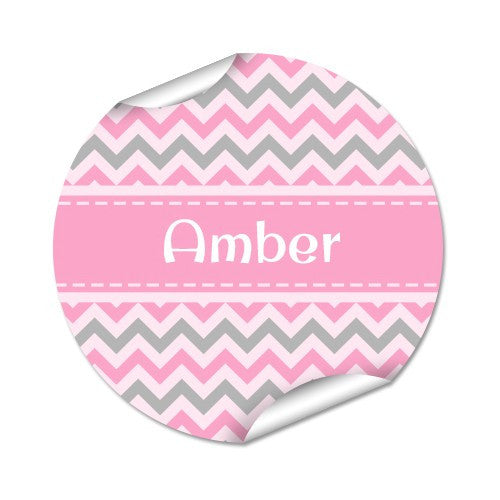 Chevron 48pk Labels - Round