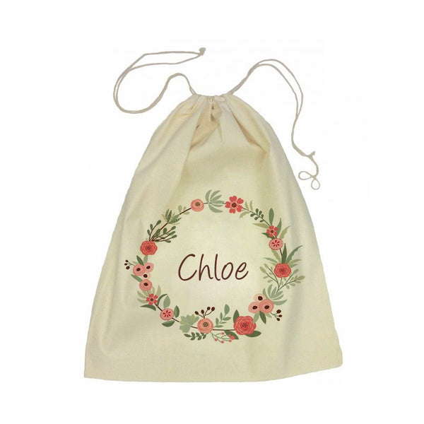 Drawstring Bag - Flower Wreath