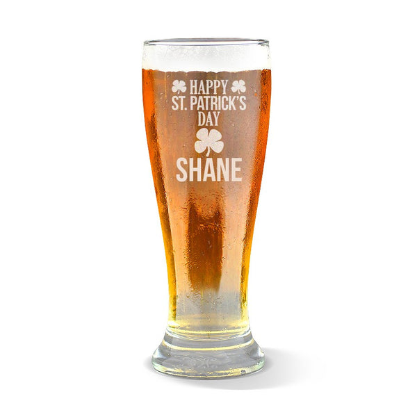 Happy St Patrick's Day Premium 425ml Beer Glass