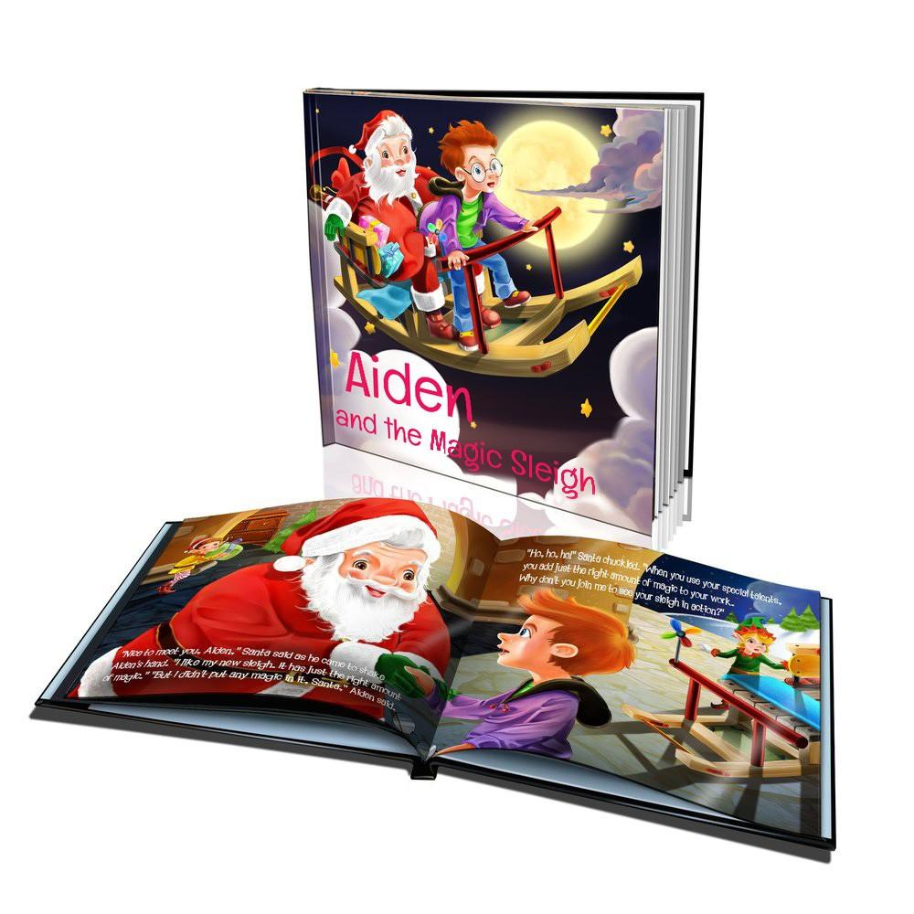 Large Hard Cover Story Book - The Magic Sleigh