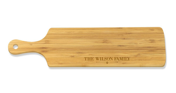Family Long Bamboo Serving Board