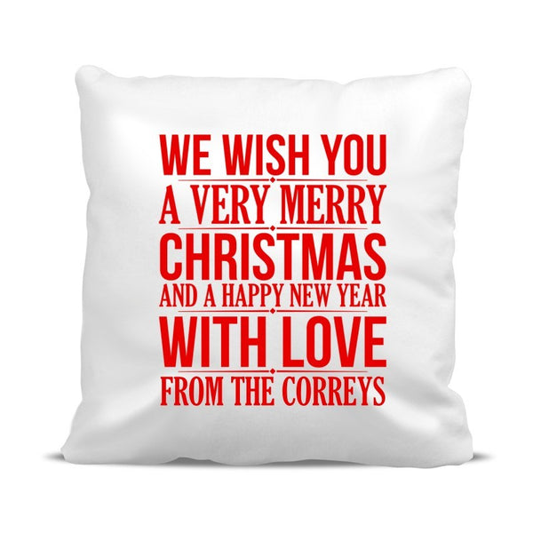 Merry Christmas Classic Cushion Cover