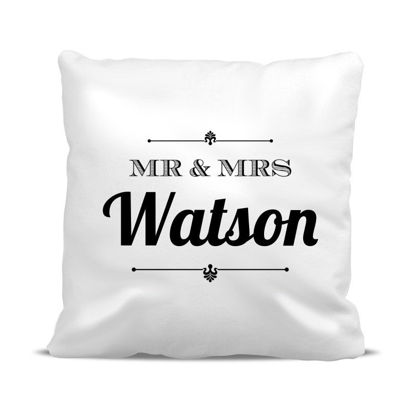 Mr & Mrs Classic Cushion Cover