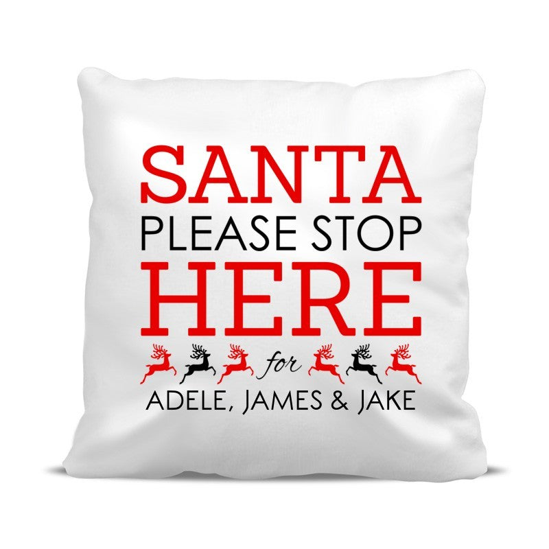 Santa Stop Classic Cushion Cover
