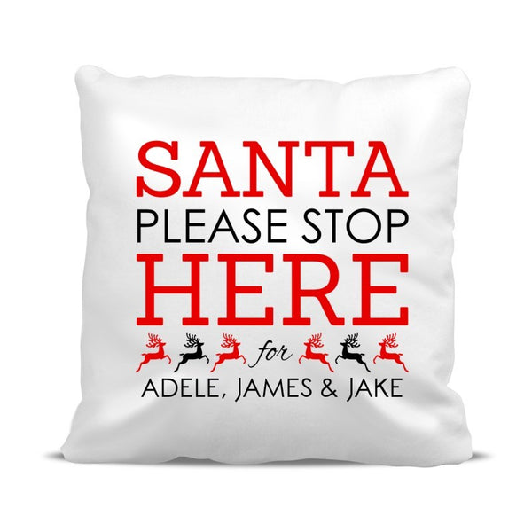Santa Stop Cushion Cover