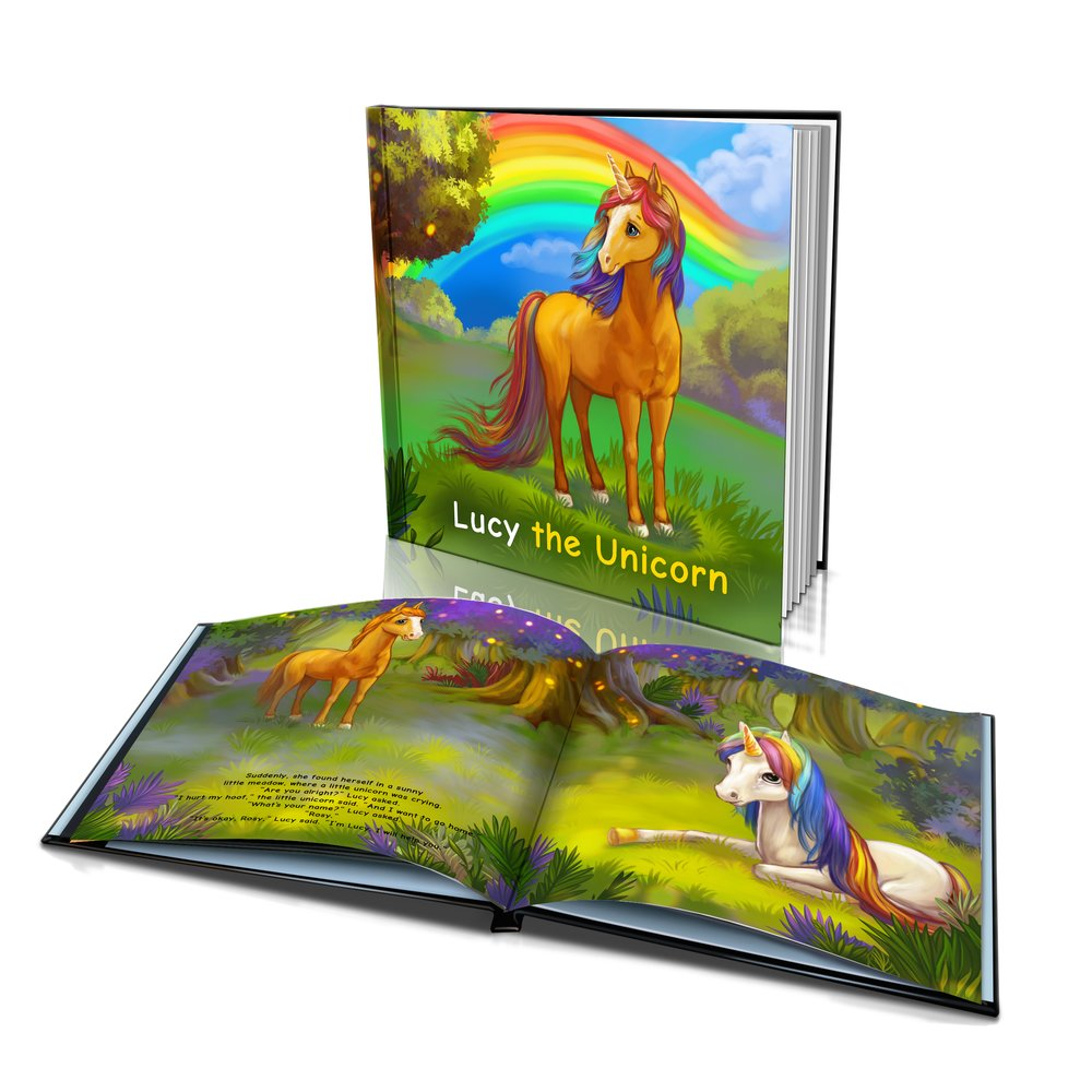 Large Hard Cover Story Book - The Unicorn