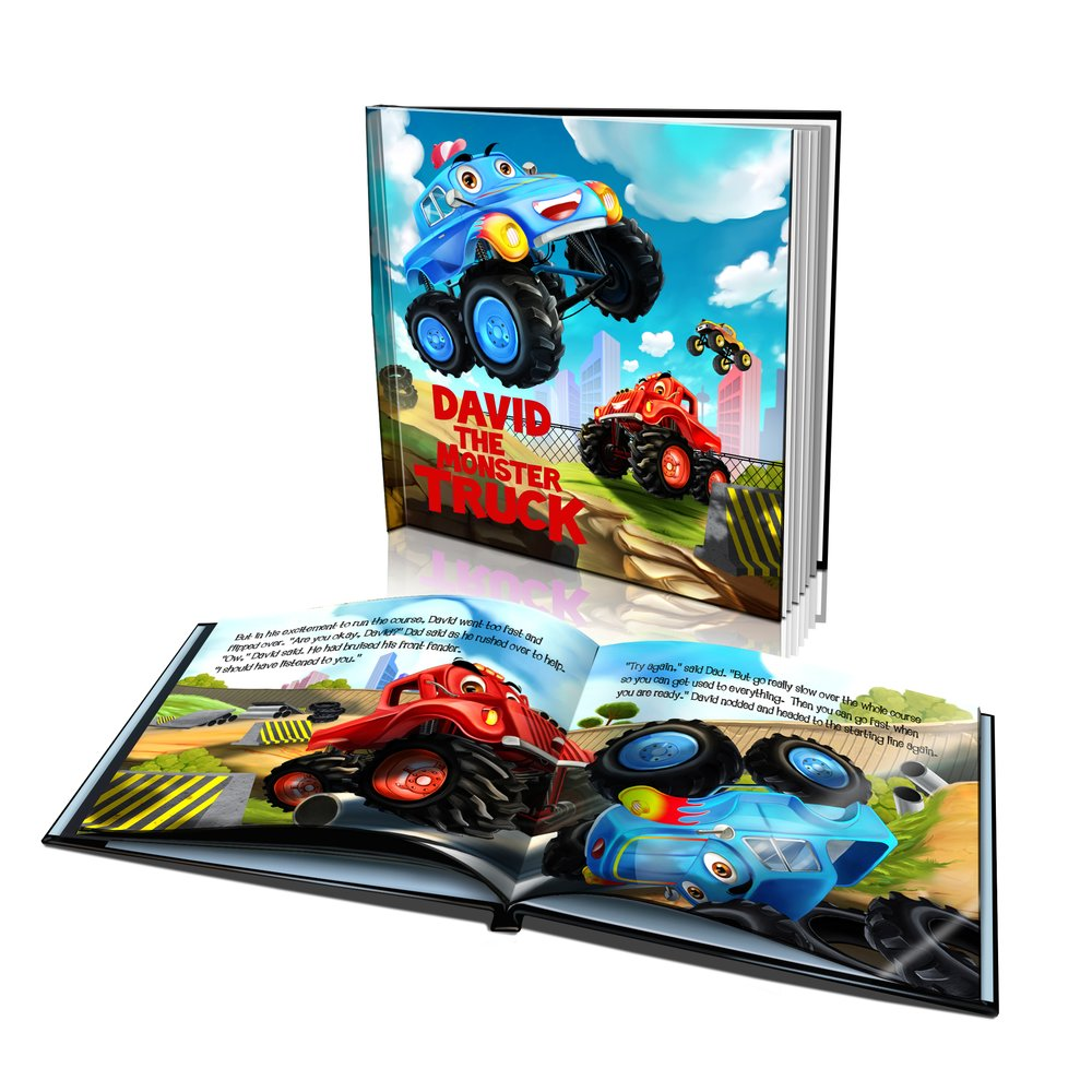 Hard Cover Story Book - The Monster Truck