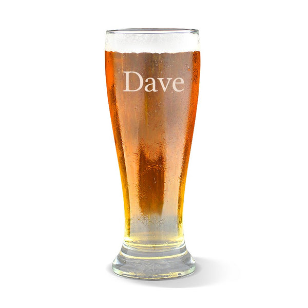 Name Premium 285ml Beer Glass