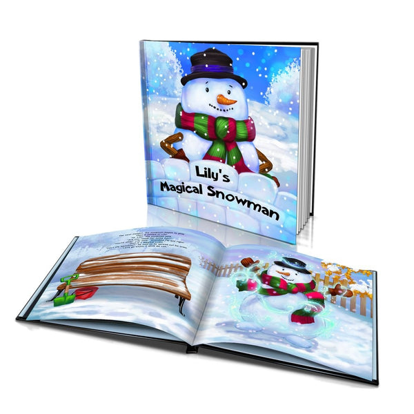 Large Hard Cover Story Book - The Magical Snowman