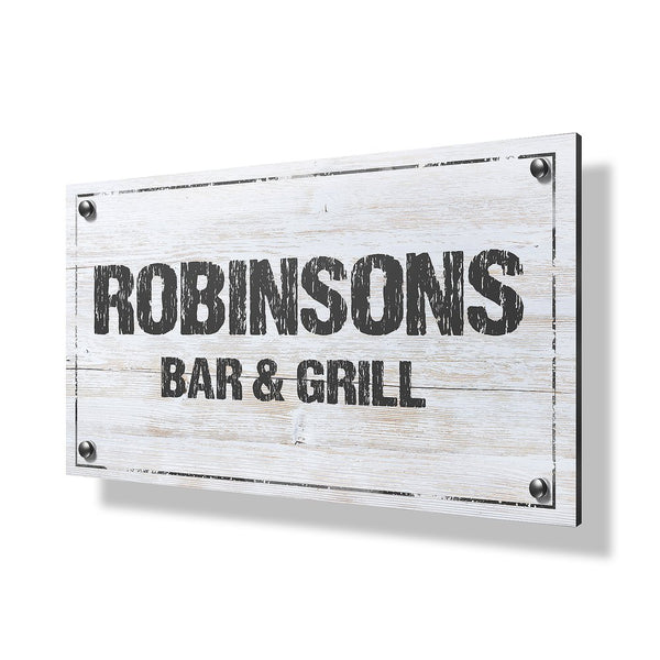 Bar & Grill Business & Property Sign - 30x20""