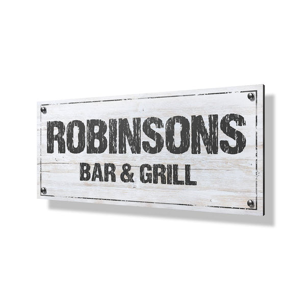 Bar & Grill Business & Property Sign - 40x20""