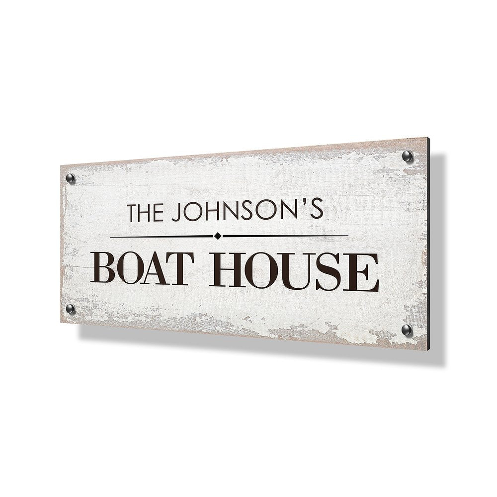 Boat House Business & Property Sign - 24x12""