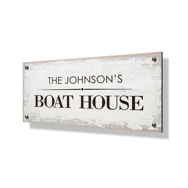 Boat House Business & Property Sign - 40x20""